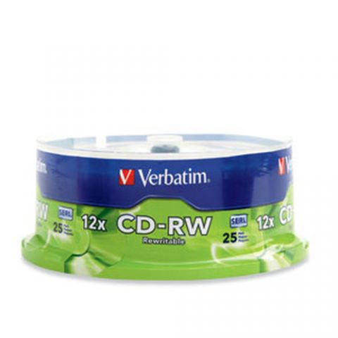 Disco CD-RW VERBATIM - CD-RW, 700 MB, 25, 12x, 80 min 95155