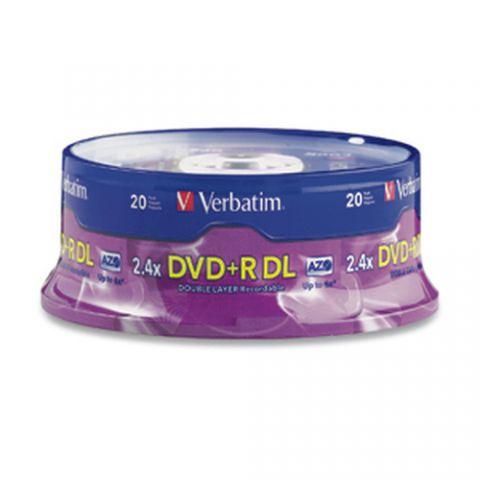 Disco DVD-R VERBATIM 95310 - DVD+R DL, 20, 4x, 240 min 95310