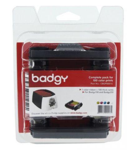 Kit Badgy BADGY - Transferencia térmica, 100 impresiones, Kit CBGP0001C
