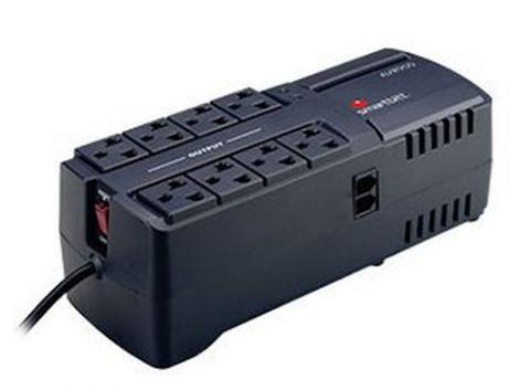 Regulador Smartbitt SBAVR2200 regulador de voltaje 8 salidas AC 95-150 V Negro