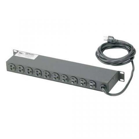 Regleta y Multicontacto Panduit CMRPSH15 extensión de corriente 10 salidas AC Negro