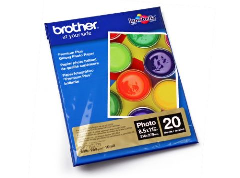 Papelería Brother Letter-size Glossy Photo Paper papel fotográfico
