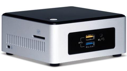 Mini PC Intel BOXNUC5PPYH PC/estación de trabajo barebone UCFF Plata, Negro BGA 1170 N3700 1.6 GHz