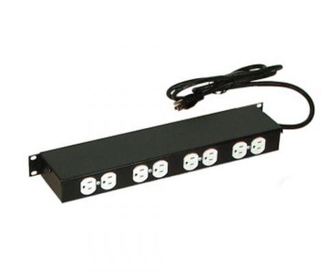 Regleta y Multicontacto North System NORTH609-BKT extensión de corriente 2.14 m 8 salidas AC Negro