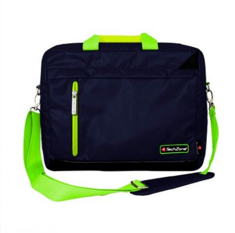 "TechZone TZ16LMS21 maletín para laptop 39.6 cm (15.6"") Bolsa tipo mensajero Negro, Verde"