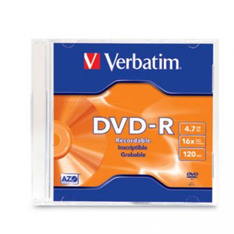 Disco DVD-R VERBATIM 95093 - DVD-R, 1, 120 min 95093