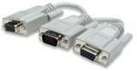 """Cable VGA - HD15 - """"y"""" MANHATTAN 328302 - 0, 15 m, VGA, VGA (D-Sub), Macho/hembra, Color blanco 328302"""