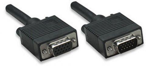 Cable VGA - HD15 - Extension MANHATTAN - 7, 5 m, VGA (D-Sub), VGA (D-Sub), Macho/hembra, Negro 327015