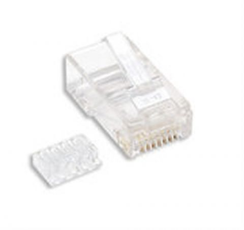 Adaptador para red Intellinet 100-Pack Cat6 RJ45 conector RJ-45 Transparente
