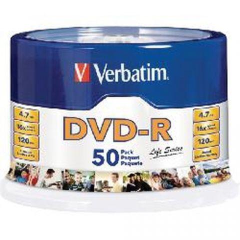 Disco DVD-R VERBATIM - DVD-R, 50, 120 min 97176