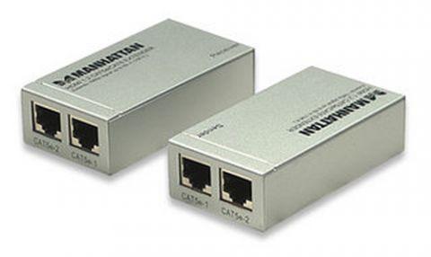 Accesorio Manhattan 177269 extensor de audio/video Transmisor y receptor AV Plata