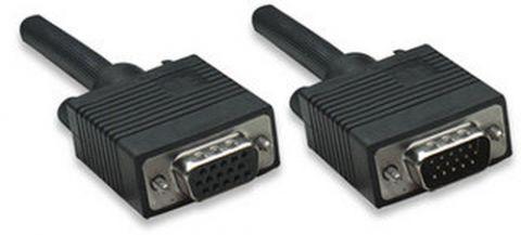 Cable SVGA 328746 MANHATTAN - HD15 Macho, HD15 Hembra, Negro 328746