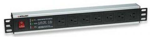 Barra de contactos INTELLINET . - Negro, 4, 4 cm, Aluminio 207102