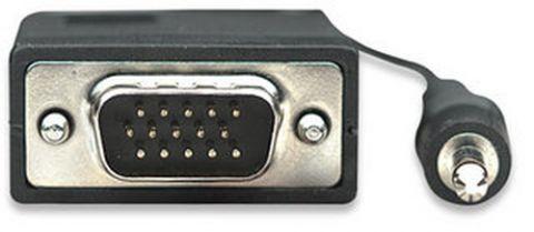 Cable VGA con Audio MANHATTAN - 30 m, VGA (D-Sub) + 3.5mm, Macho/Macho, Negro 326711