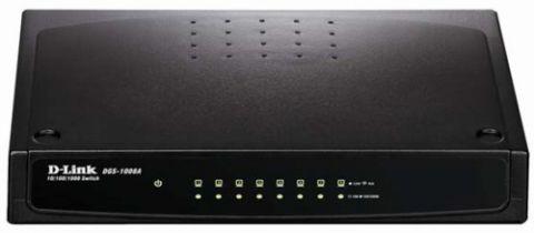 Switches D-Link DGS-1008A dispositivo de redes No administrado Negro
